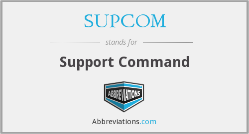 What does SUPCOM stand for?
