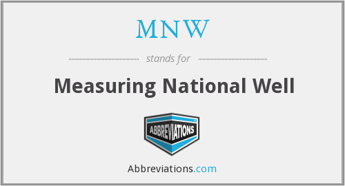 MNW - Measuring National Well
