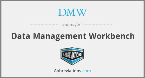 DMW - Data Management Workbench