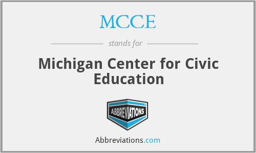 MCCE - Michigan Center for Civic Education
