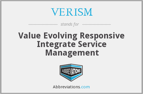 What does VERISM stand for?