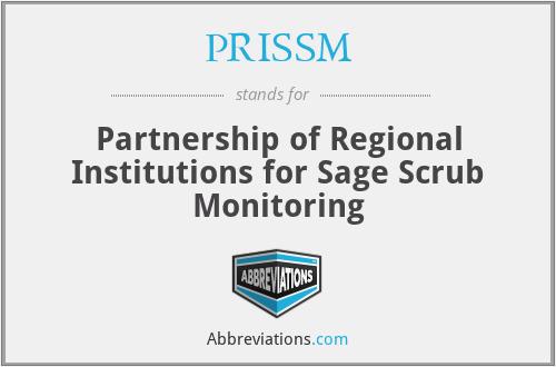 PRISSM - Partnership of Regional Institutions for Sage Scrub Monitoring