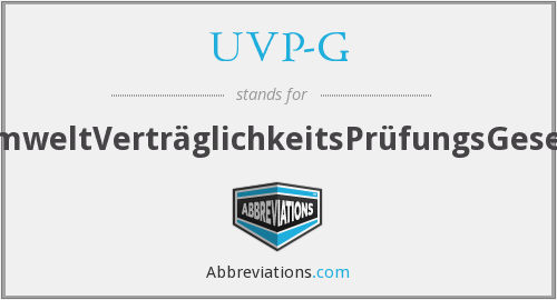 What does UVP-G stand for?