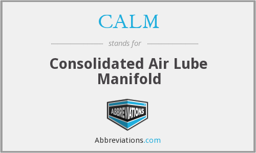 CALM - Consolidated Air Lube Manifold