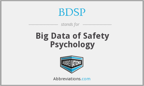 BDSP - Big Data of Safety Psychology