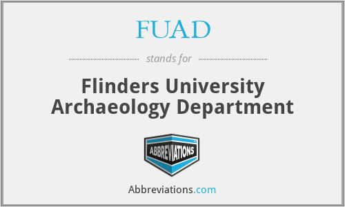 FUAD - Flinders University Archaeology Department