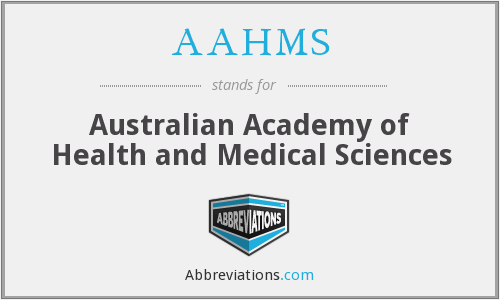 What does AAHMS stand for?