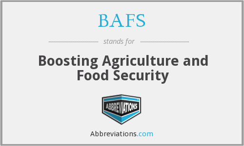 BAFS - Boosting Agriculture and Food Security