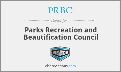 PRBC - Parks Recreation and Beautification Council