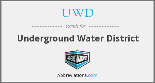 UWD - Underground Water District