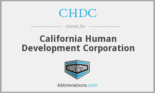 What does CHDC stand for?