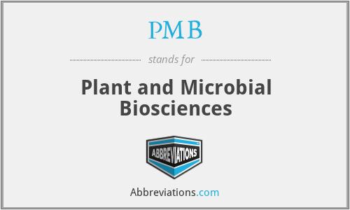 PMB - Plant and Microbial Biosciences