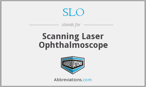 SLO - Scanning Laser Ophthalmoscope