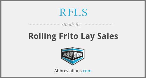 RFLS - Rolling Frito Lay Sales