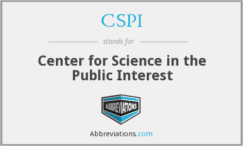 CSPI - Center for Science in the Public Interest