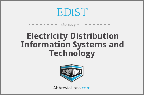 What does EDIST stand for?