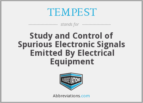 What does TEMPEST stand for?