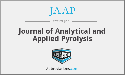 JAAP - Journal of Analytical and Applied Pyrolysis