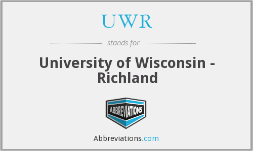 UWR - University of Wisconsin - Richland