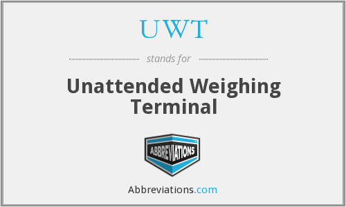 UWT - Unattended Weighing Terminal
