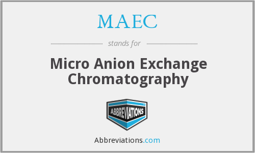 MAEC - Micro Anion Exchange Chromatography