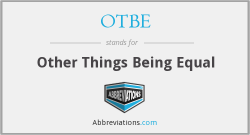 What does OTBE stand for?