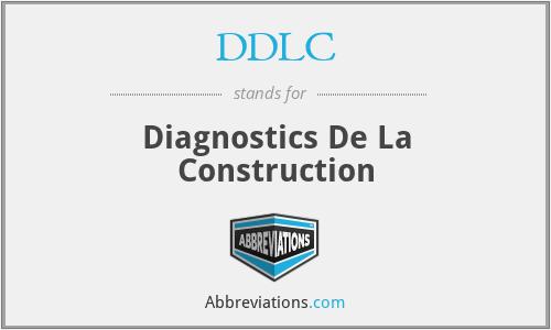 DDLC - Diagnostics De La Construction