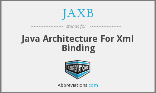JAXB - Java Architecture For Xml Binding