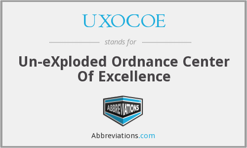 UXOCOE - Un-eXploded Ordnance Center Of Excellence