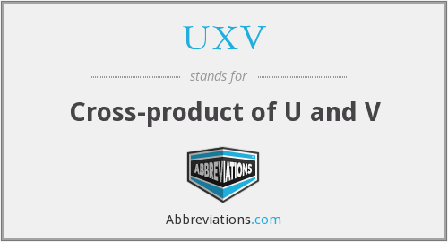 UXV - Cross-product of U and V