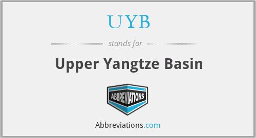 UYB - Upper Yangtze Basin