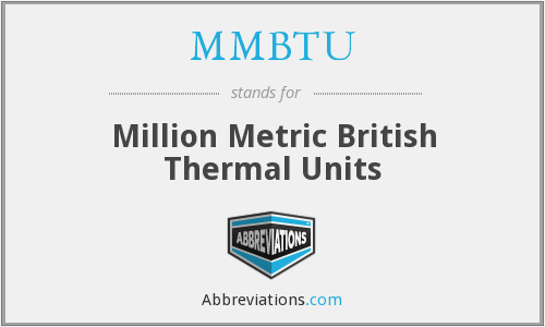 What does MMBTU stand for?