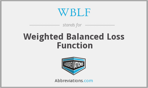 WBLF - Weighted Balanced Loss Function