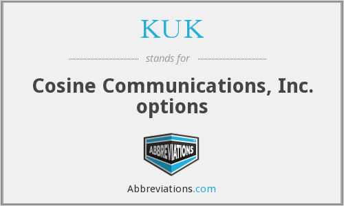 KUK - Cosine Communications, Inc. options