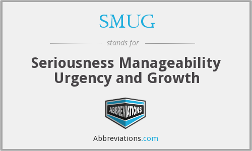 SMUG - Seriousness Manageability Urgency and Growth