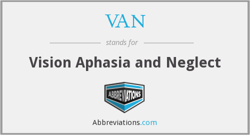 VAN - Vision Aphasia and Neglect