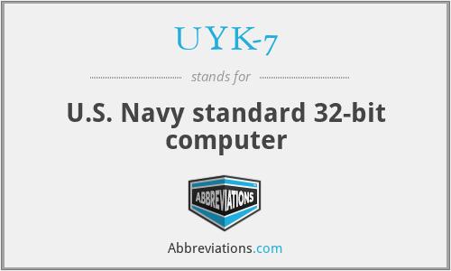 UYK-7 - U.S. Navy standard 32-bit computer