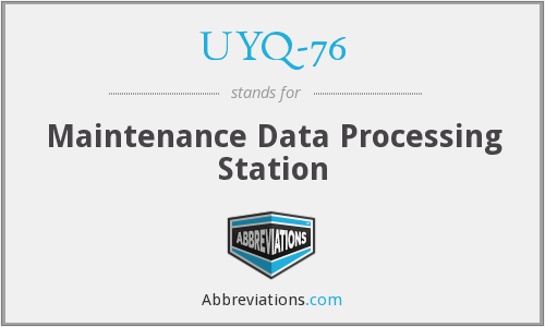 UYQ-76 - Maintenance Data Processing Station