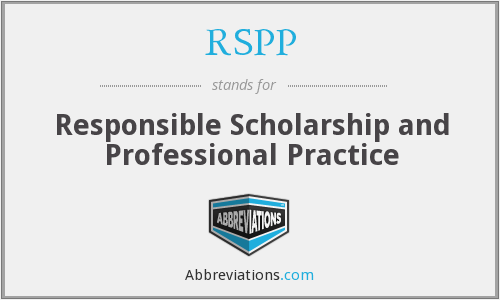 RSPP - Responsible Scholarship and Professional Practice