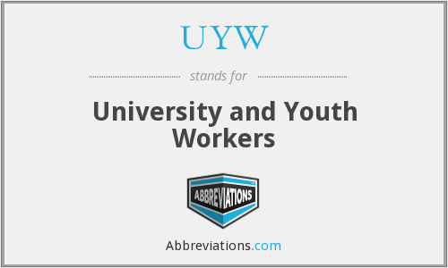 UYW - University and Youth Workers