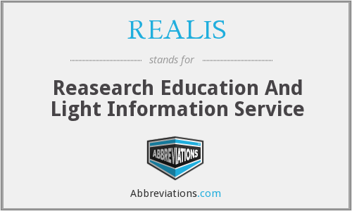 What does REALIS stand for?