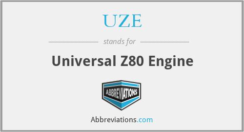 UZE - Universal Z80 Engine