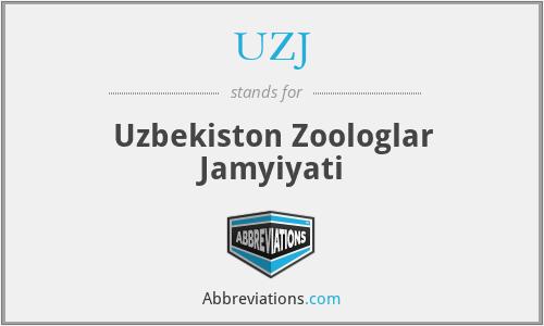 UZJ - Uzbekiston Zoologlar Jamyiyati