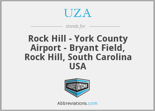 UZA - Rock Hill - York County Airport - Bryant Field, Rock Hill, South Carolina USA