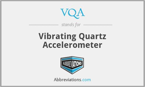 VQA - Vibrating Quartz Accelerometer