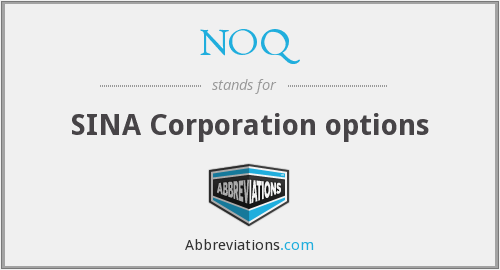 NOQ - SINA Corporation options