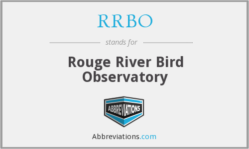 RRBO - Rouge River Bird Observatory