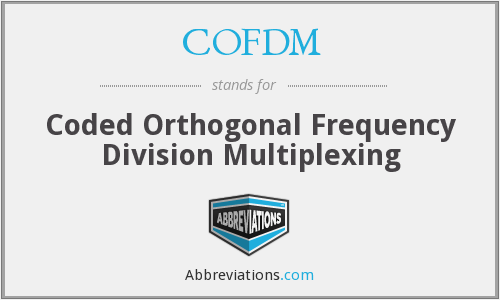 COFDM - Coded Orthogonal Frequency Division Multiplexing