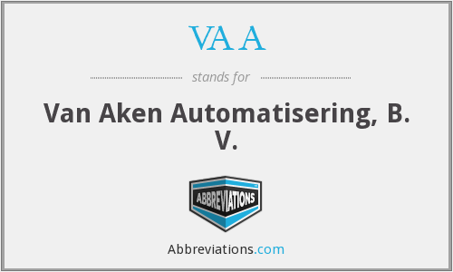 VAA - Van Aken Automatisering, B. V.