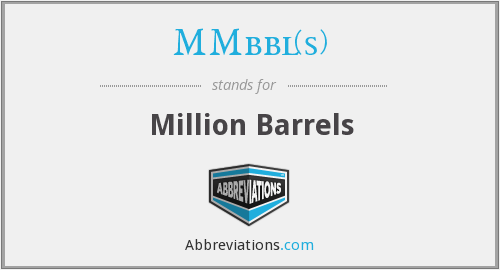What does MMBBL(S) stand for?